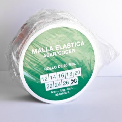 Malla elástica para carne calibre 28 Rollo 50 metros